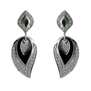 JPearls black diamond earrings