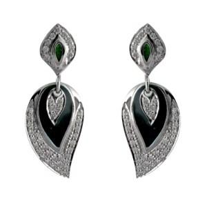 JPearls black diamond earrings