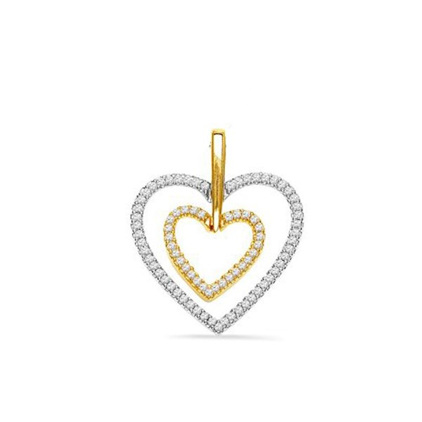 Top 8 romantic heart pendants for her jpearls blog want to melt her heart well there is nothing like gifting her with your heart in gold and a diamondor two or maybe more considered to be the universal aloadofball Image collections