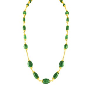 Emerald gold chain