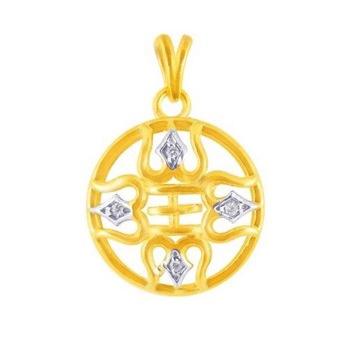 Spiritual diamond pendant