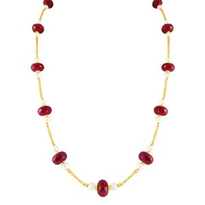 Ruby gold chain