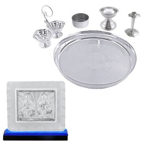 Silver Puja Thali