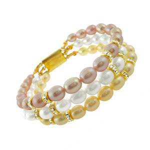 j pearls teenage eye catching pearl bangle bracelet