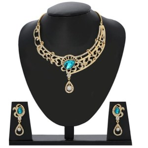 j Pearls fancy gold cz pearl necklace set 1