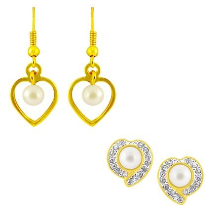 j pearls heart earrings