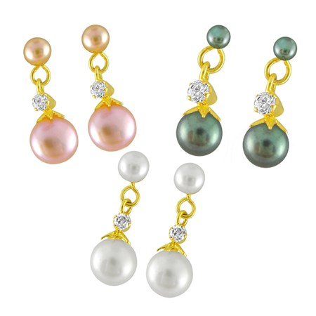 j pearls pear ear hangings