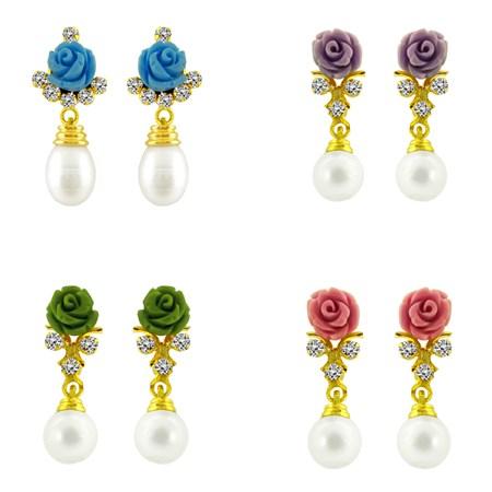 j pearls rose earrings 1