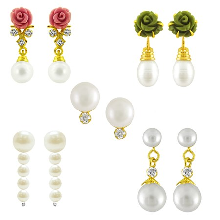 j pearls rose pearl earrings