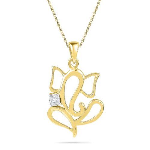 Ganesha Diamond Pendant from JPearls