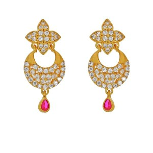 22k gold princess earrings