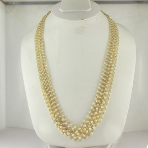 Freshwater pearls gold chain