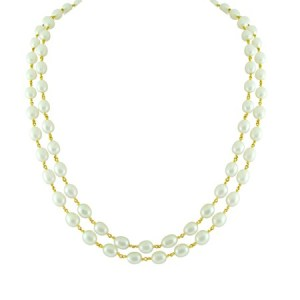 Dual string pearl gold chain