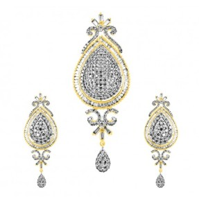 Diamond Pendant Set at jpearls