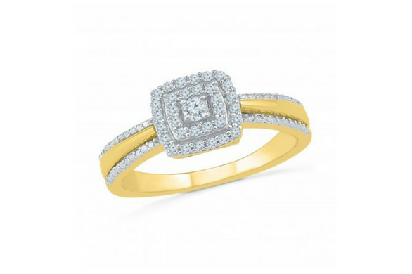 Gold & Diamond ring at jpearls
