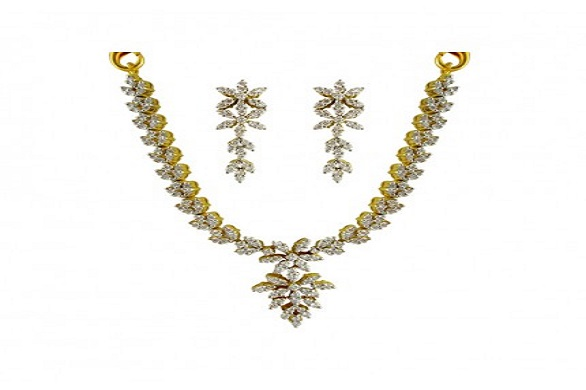 Traditional Diamond Necklace at jpearls