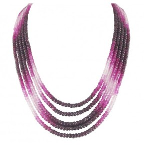 Graceful Unique Precious Gemstone Necklace
