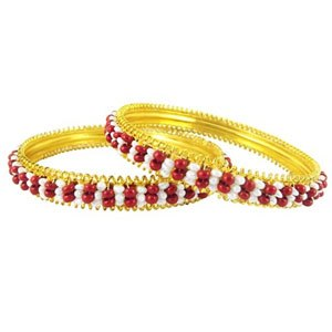 Buy Maroon Pearl Bangles at jpearls