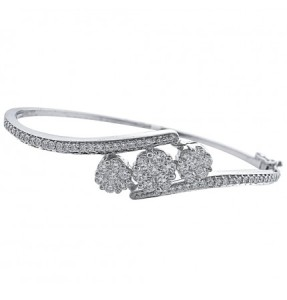 White Gold Cuff Diamond Bracelet at jpearls